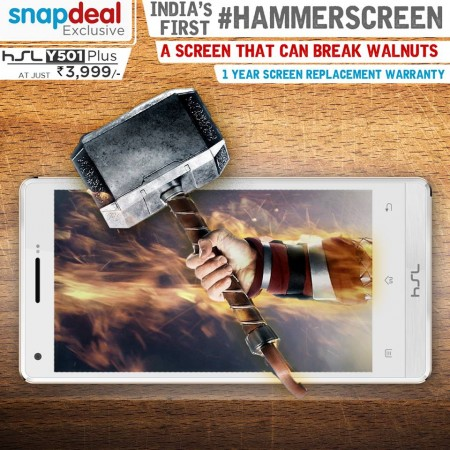 Shatterproof HSL Y501 Plus launched in India for just Rs 3,999. It can break walnuts, too.
