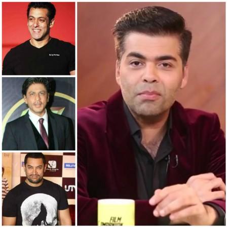 Salman Khan, Shah Rukh Khan, Aamir Khan and Karan Johar
