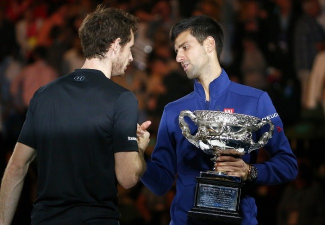 Andy Murray Novak Djokovic Australian Open 2016 trophy final