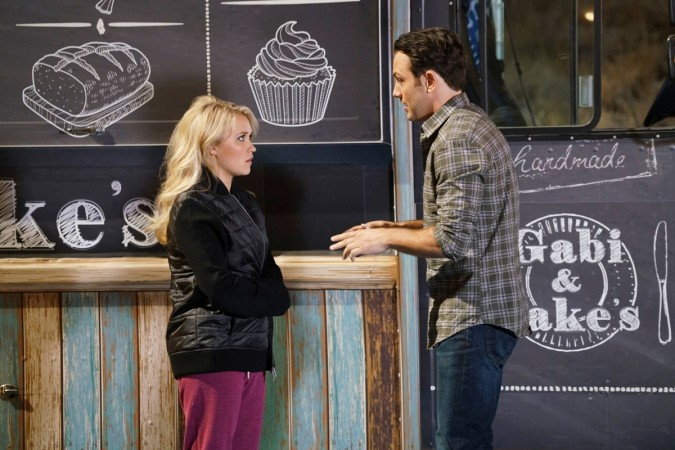 "Josh and Gaby from Season 3 premiere of ""Young and Hungry"""