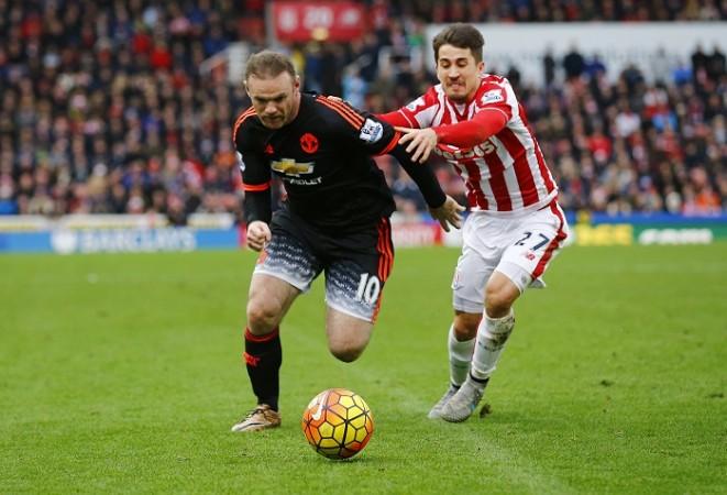 Wayne Rooney Manchester United Bojan Krkic Stoke City