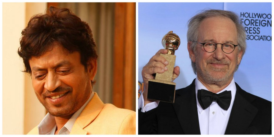 Irrfan Khan and Steven Spielberg