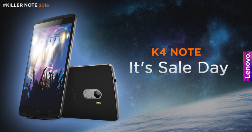 Lenovo K4 Note flash sale begins at 2PM, 3 February, exclusively on Amazon.in.