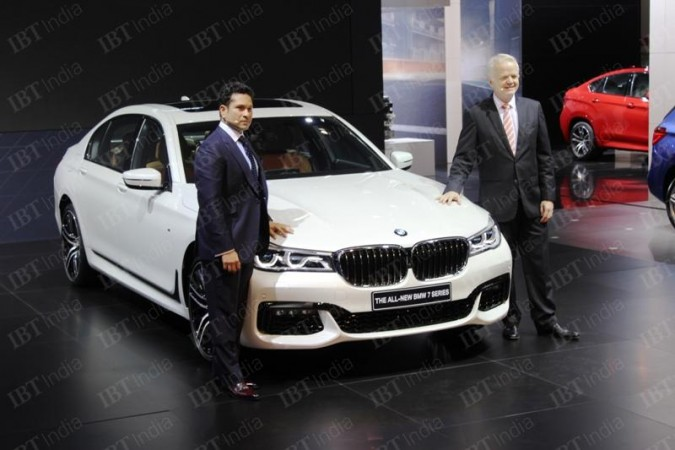 Sachin Tendulkar unveiling new BMW 7 Series