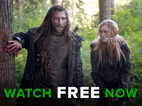 "Roan and Clarke from ""The 100"" Season 3"