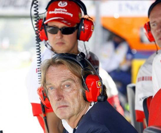 Michael Schumacher Luca di Montezemolo Ferrari