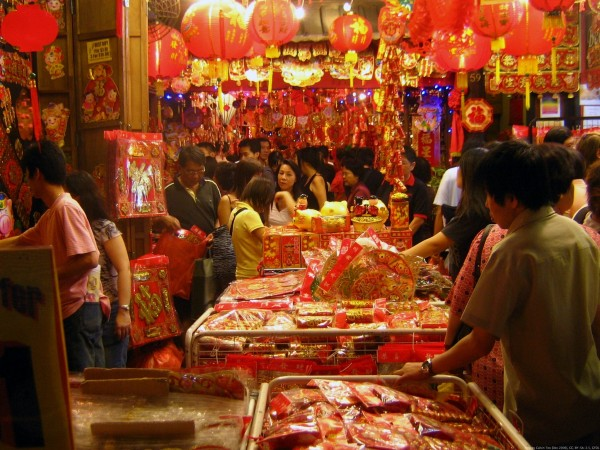 Chinese New Year celebration in Singapore