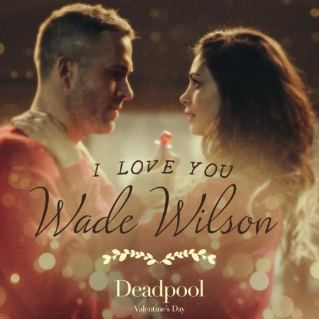 Deadpool's Valentine's Day promotional poster