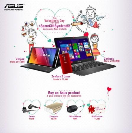 Valentine's Day (2016): Asus offers gifts and cash vouchers on Zenfone Laser, ZenPad, ZenBook