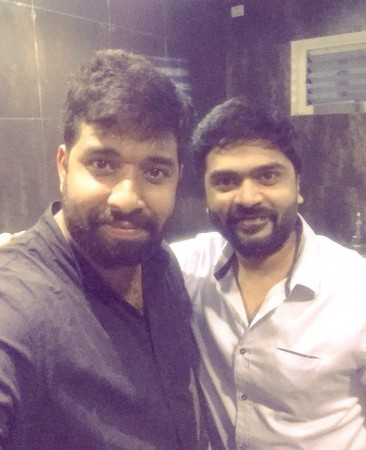 Simbu with Adhik Ravichandran
