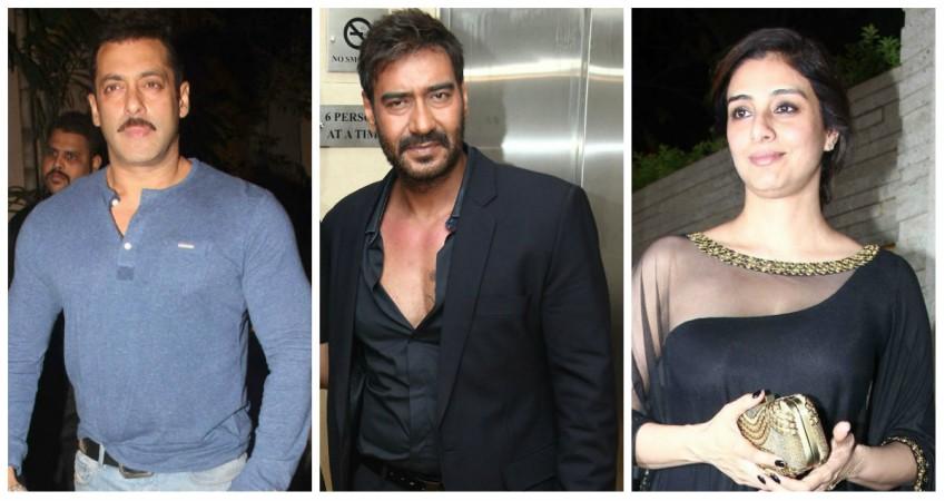 Salman Khan, Ajay Devgn and Tabu