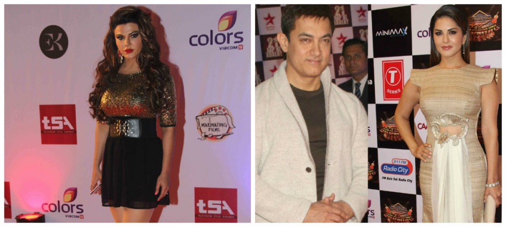 Rakhi Sawant, Aamir Khan and Sunny Leone