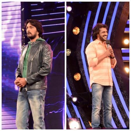 Upendra with Sudeep on Bigg Boss 3