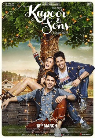 Sidharth Malhotra, Alia Bhatt and Fawad Khan in 'Kapoor and Sons'