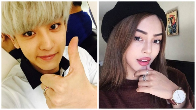 Chanyeol and Lily May Mac