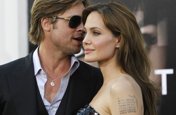 Brad Pitt and Angelina Jolie the Grauman's Chinese theatre in Hollywood during
