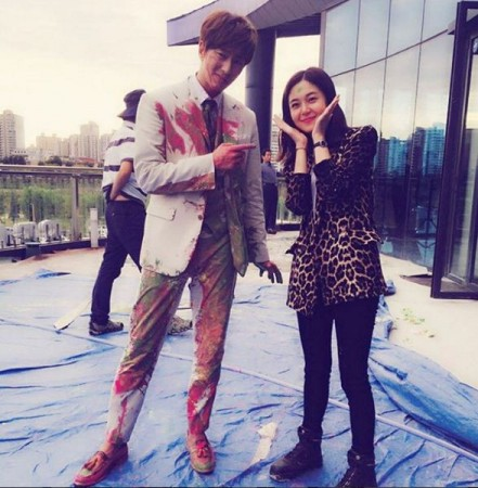 Yoon Hyun Min and Baek Jin Hee