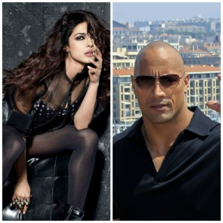 Priyanka Chopra and Dwayne Johnson aka The Rock