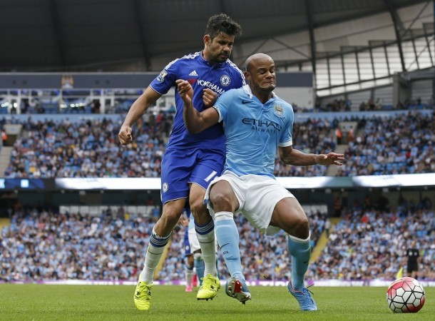 Diego Costa Chelsea Vincent Kompany Manchester City