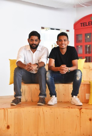 Narayan Babu, CTO at Lookup (left) with Deepak Ravindran, founder and CEO of Lookup, at the new office
