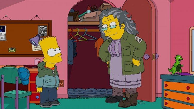 Bart brings a homeless woman to home