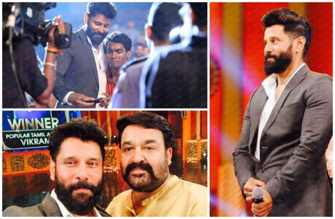This is how Vikram reacted when a fan approached him during asianet awards