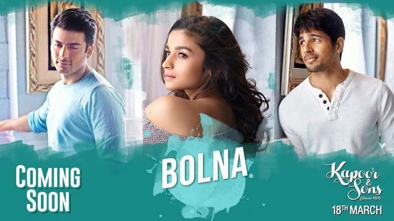 Romantic Song, 'Bolna', from 'Kapoor and Sons'