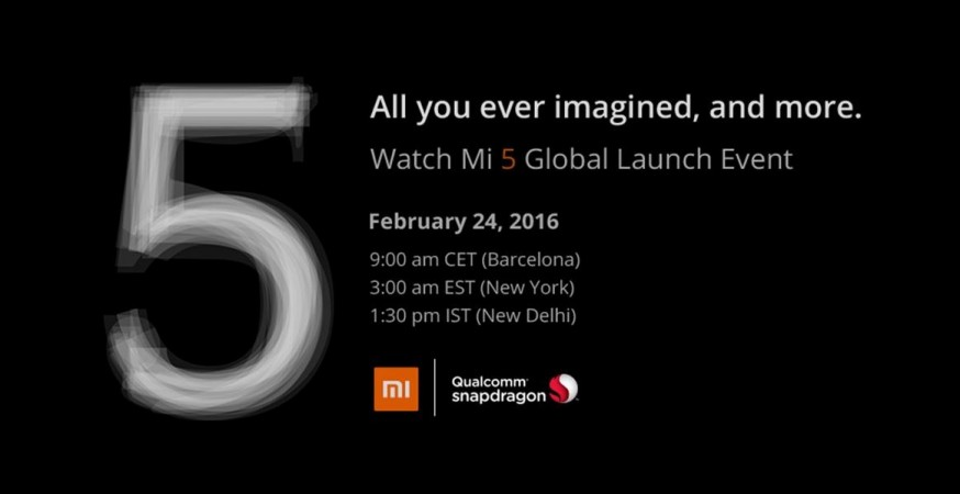 Xiaomi Mi 5 launch live stream: Where to watch flagship smartphone unveiling