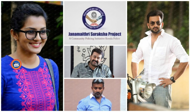 Celebs support Kerala Police Campaign