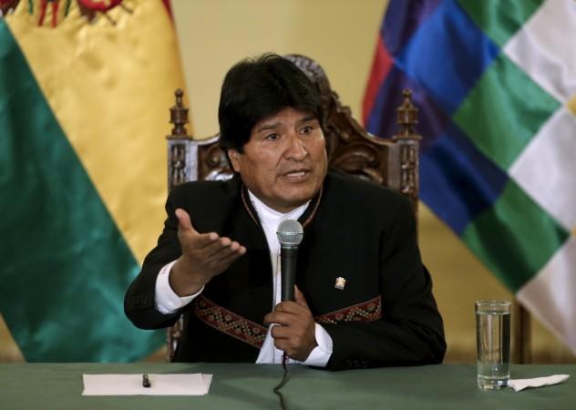 Bolovian President Evo Morales