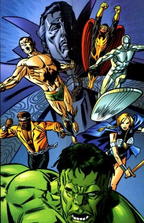 The Defenders as they appear in Earth-9997 version