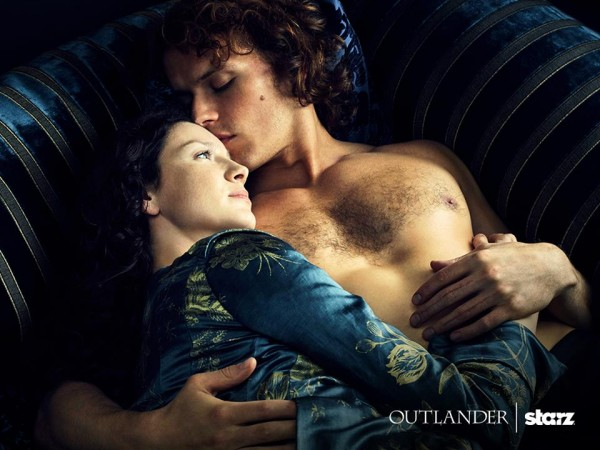 Actors Caitriona Balfe and Sam Heughan in 'Outlander'