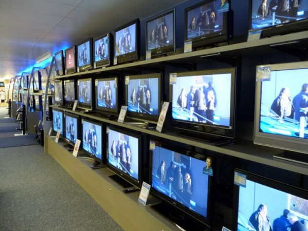 TV sets in a showroom