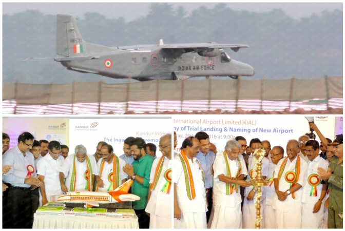 First flight landed in Kannur International Airport