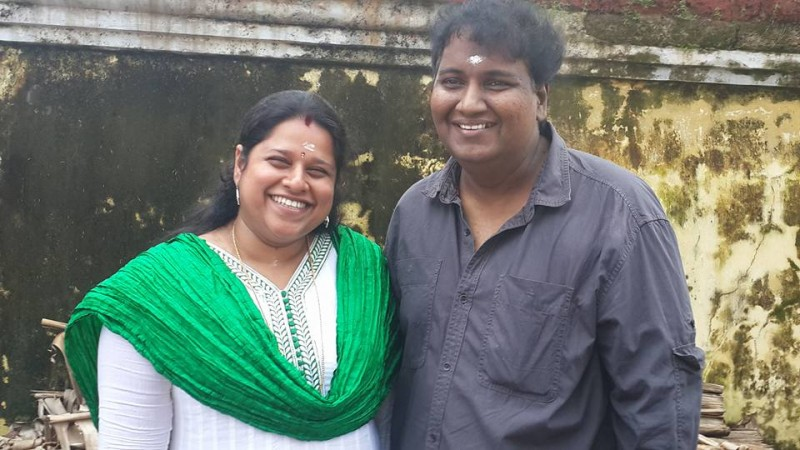 Rajesh Pillai and his wife Megha