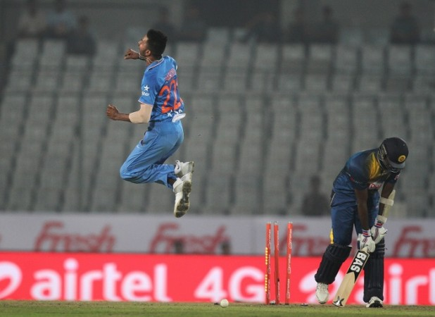 Hardik Pandya India Angelo Mathews Sri Lanka Asia Cup 2016