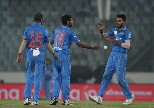Bhuvneshwar Kumar Dhawan Pandya India Asia Cup 2016