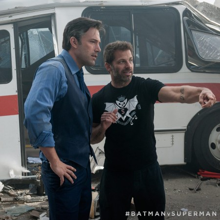 """Director Zack Snyder with """"Batman V Superman"""" star Ben Affleck"""