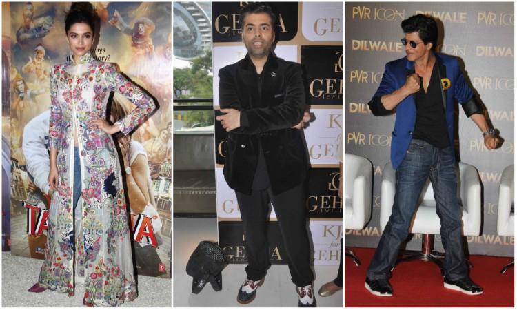 Deepika Padukone, Karan Johar, Shah Rukh Khan
