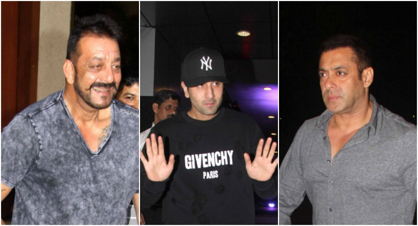 Sanjay Dutt, Ranbir Kapoor, Salman Khan