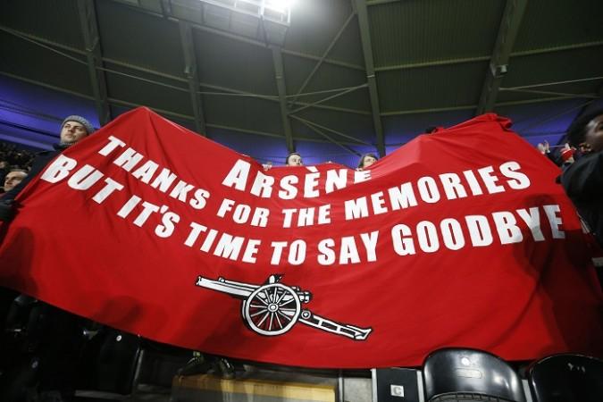 Arsenal Arsene Wenger banner
