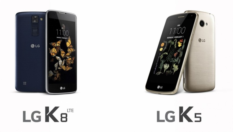 LG launches new K8, K5 series mid-range smartphones