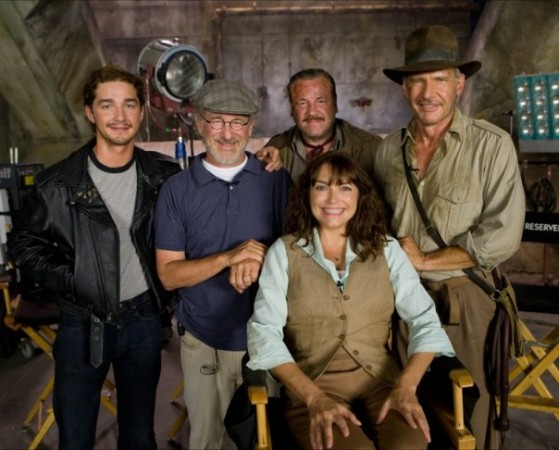 Shia LaBeouf along with other cast of 'Kingdom of the Crystal Skull'