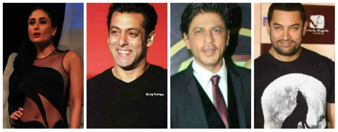 Salman Khan Shah Rukh Khan Aamir Khan and Kareena Kapoor Khan