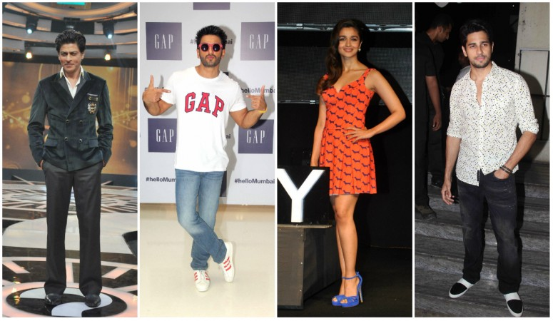 Shah Rukh Khan, Ranveer Singh, Alia Bhatt, Sidharth Malhotra