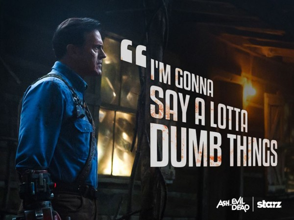 Bruce Campbell as Ash Williams in Ash vs Evil Dead
