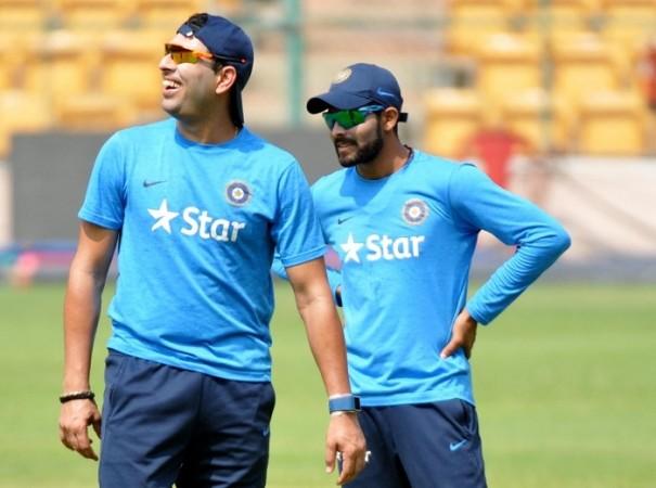 Yuvraj Singh Ravindra Jadeja India World T20 2016
