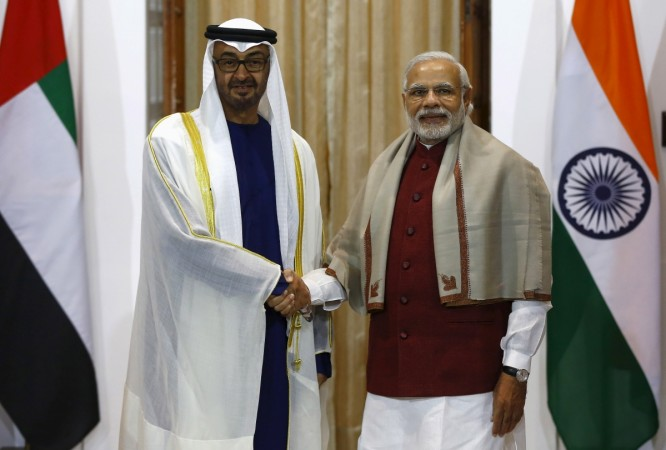 Abu Dhabi Crown Prince in India