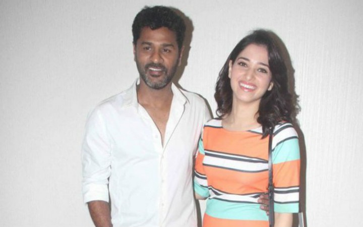 Prabhudheva and Tamannaah Bhatia at the special screening of Oopiri