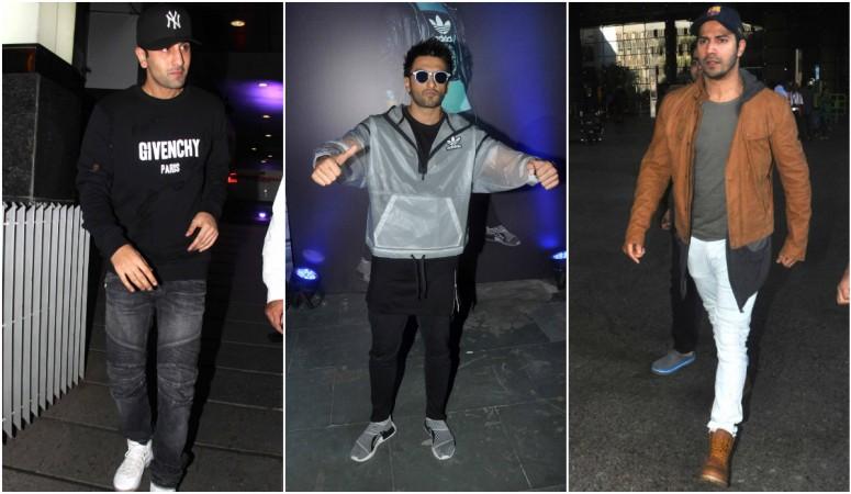 Ranbir Kapoor, Ranveer Singh, Varun Dhawan